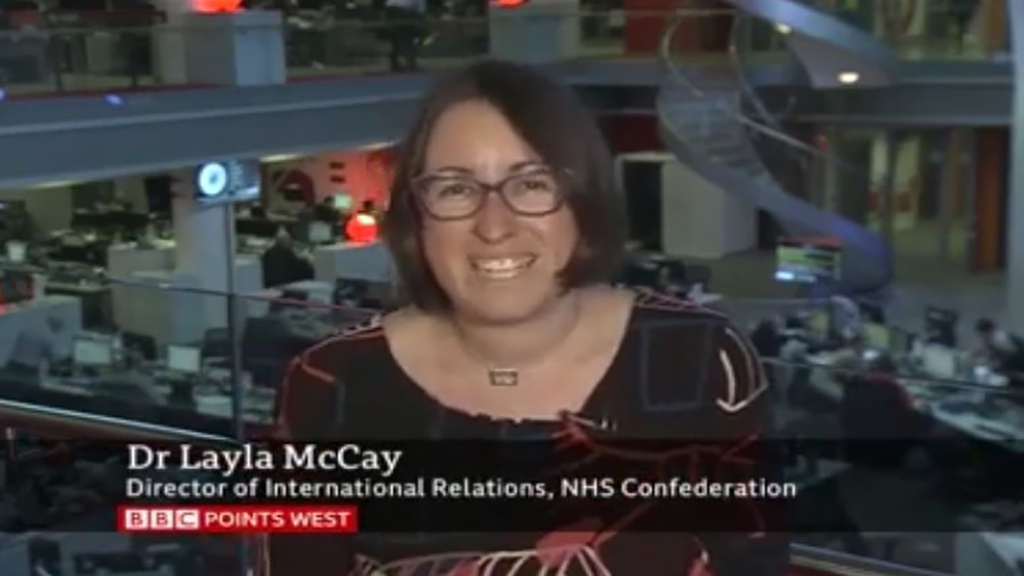Interview I How Brexit will affect the NHS on BBC Points West I Layla McCay, 2017 AsiaGlobal Fellow