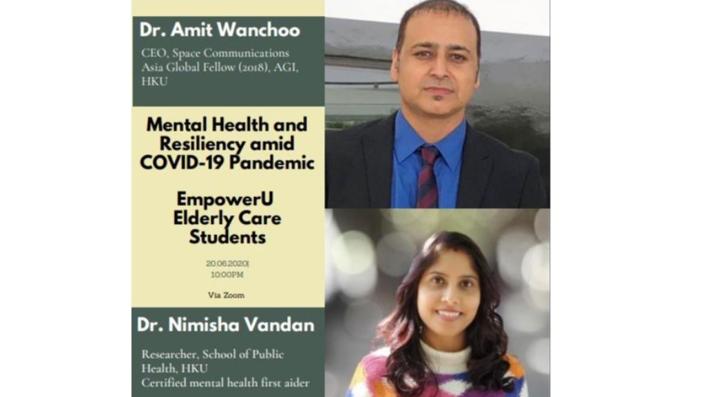 Event I Mental health and resiliency amid Covid-19 pandemic I Amit Wanchoo, 2018 AsiaGlobal Fellow