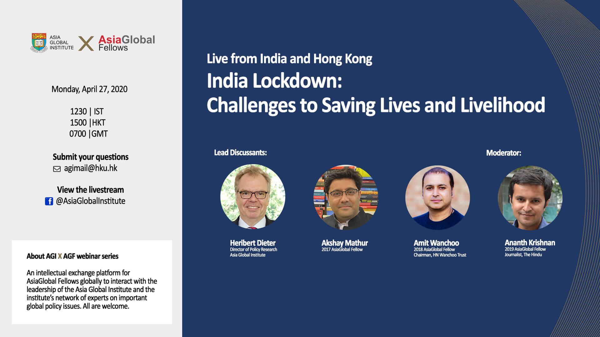 AGI x AGF Webinar: India Lockdown - Challenges to Saving Lives and Livelihood