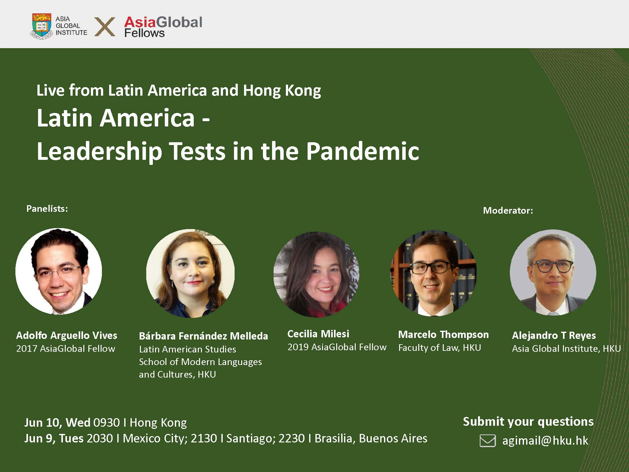 AGI x AGF Webinar: Latin America - Leadership Tests in the Pandemic