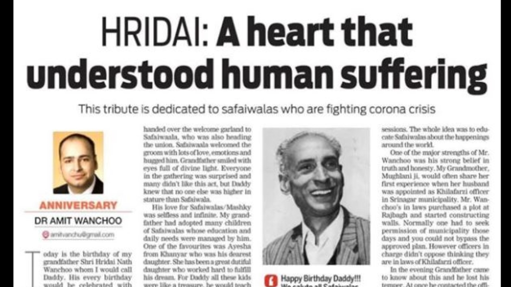 Article I A heart that understood human suffering I Amit Wanchoo, 2018 AsiaGlobal Fellow