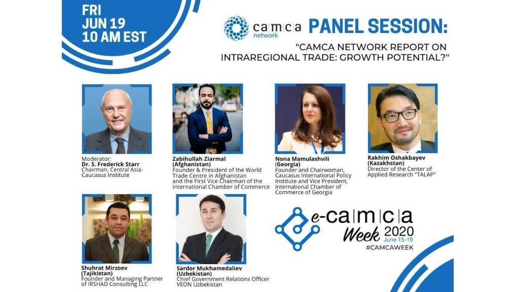 Conference I CAMCA Network Report on Intraregional Trade: Growth Potential I Nona Mamulashvili, 2020/21 AsiaGlobal Fellow
